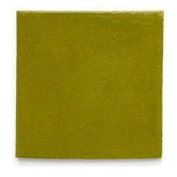 25 Avocado (Glossy Finish) - Handmade Ceramic Tile - Handmade Ceramic Tile