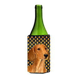 Caroline's Treasures - Dachshund Candy Corn Halloween Portrait Wine Bottle Koozie Hugger SS4280LITERK - Dachshund Candy Corn Halloween Portrait Wine Bottle Koozie Hugger SS4280LITERK Fits 750 ml. wine or other beverage bottles. Fits 24 oz. cans or pint bottles. Great collapsible koozie for large cans of beer, Energy Drinks or large Iced Tea beverages. Great to keep track of your beverage and add a bit of flair to a gathering. Wash the hugger in your washing machine. Design will not come off.