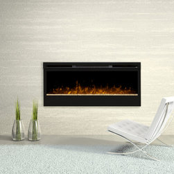 Dimplex - Dimplex Synergy 50-Inch Electric Fireplace - BLF50 - The Dimplex Synergy 50 in Electric Fireplace is a top of the line heating solution that compliments any interior. The patented fire technology over crushed glass creates a highly realistic flame presentation with optional warming settings. The fan helps distribute heat to rooms up to 400 square feet.