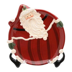 ATD - 10.25 Inch Red and White Holiday Themed Collectible Santa Plate - This gorgeous 10.25 Inch Red and White Holiday Themed Collectible Santa Plate has the finest details and highest quality you will find anywhere! 10.25 Inch Red and White Holiday Themed Collectible Santa Plate is truly remarkable.