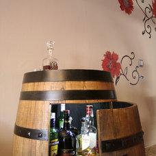 Rustic Indoor Pub And Bistro Tables by DecorPapaCarlo
