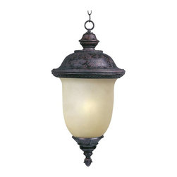 Maxim Lighting - Maxim Carriage House EE 1-Light Outdoor Hanging Lantern Bronze - 85527MOOB - Carriage House EE is a traditional, early American style, energy saving collection from Maxim Lighting finished in Oriental Bronze with Mocha glass and includes models without a photocell, and Energy Star versions with a photocell.