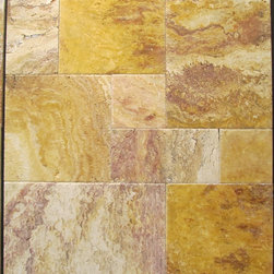 Autumn Blend Travertine - Autumn Blend Brushed & Chiseled Travertine Tiles. Please visit www.stone-mart.com or call (813) 885-6900 for more information.