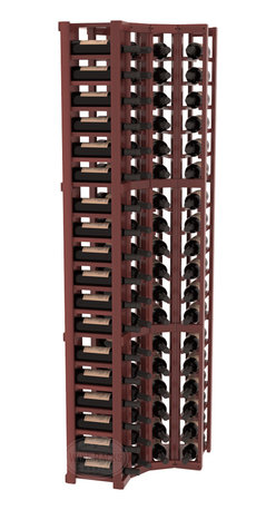 Wine Racks America® - 4 Column Standard Corner Kit in Redwood, Cherry Stain + Satin Finish - Get the most storage in your wine cellar with unique corner wine racks. We construct every rack to our industry-leading standards and back them up with our lifetime warranty. Designed with emphasis on functionality, these corner racks fit seamlessly into our modular line of wine racks.