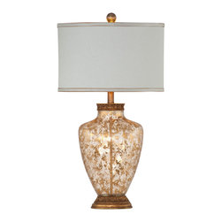 Bassett Mirror Company - Bassett Mirror Marlborough Table Lamp - Gold Leaf Flake Glass - Marlborough Table Lamp - Gold Leaf Flake Glass belongs to Old World Collection by Bassett Mirror Company Marlborough Table Lamp - Gold Leaf Flake Glass Lamp (1)