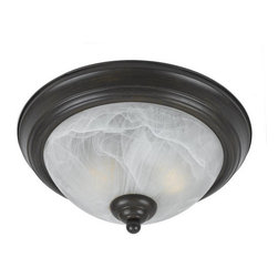 Triarch International - Triarch International 33286 Value Series 280 Flush Mount Ceiling Fixture with 2 - Triarch International 33286 Value Series 280 Flush Mount Ceiling Fixture with 2 LightsPut a priority on elegant lighting with this bold ceiling fixture. This fixture is an ideal way to showcase your personality and dazzle your guests. Triarch International 33286 Features: