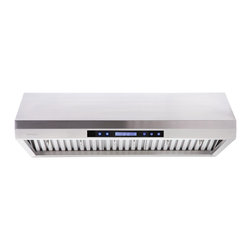 Cavaliere - Cavaliere AP238-PS65 Cabinet Range Hood - Cavaliere Stainless Steel 260W Under Cabinet Range Hood with 4 Speeds, Timer Function, LCD Keypad, Stainless Steel Baffle Filters, and Halogen Lights