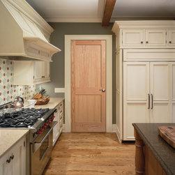 2-Panel Square Authentic Wood Doors - 2-Panel wood door