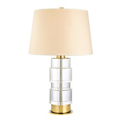 "Hudson Valley - ""L961-AGB Melrose Table Lamp, Aged Brass"" - ""Art Deco Table Lamp in Aged Brass from the Melrose Collection by Hudson Valley. Dimensions: 24.00 H 15.00 W"