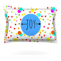 "Kess InHouse - Sreetama Ray ""Oh Joy"" Rainbow White Pillow Sham (Cotton, 30"" x 20"") - Pairing your already chic duvet cover with playful pillow shams is the perfect way to tie your bedroom together. There are endless possibilities to feed your artistic palette with these imaginative pillow shams. It will looks so elegant you won't want ruin the masterpiece you have created when you go to bed. Not only are these pillow shams nice to look at they are also made from a high quality cotton blend. They are so soft that they will elevate your sleep up to level that is beyond Cloud 9. We always print our goods with the highest quality printing process in order to maintain the integrity of the art that you are adeptly displaying. This means that you won't have to worry about your art fading or your sham loosing it's freshness."