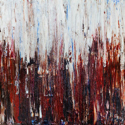 "Dustin Sinner Fine Art - 45"" X 23"" Sierra Original Acrylic Painting - Abstract. Painted in 2014 with acrylic paint with palette knife."