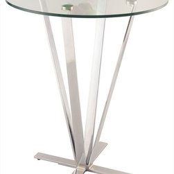 Chintaly Imports - Cortland High Bar Table - Modern X Design Base. Adjustable leveling feet.