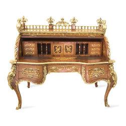 Elegant Roll Top Desk -