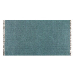Uttermost - Uttermost Cascadia 5 x 8 Cotton Rug 71041-5 - Twisted Cottons In Washed Dusty Green And Blue Gray Hand Woven In A Subtle Chevron Pattern.