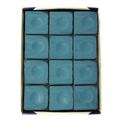 Sterling Gaming - Silver Cup Chalk in Blue - Includes 12-pieces of cup chalk. Chalks matching cloth colors. Made in Macon, GeorgiaSilver Cup Chalk is, in our opinion, the best chalk on the market today. Although not as popular as Master, it is only a matter of time before people realize they can get a better chalk for less money! Made by some of the finest people you will ever meet. We suggest matching your chalk color to your cloth color to keep it looking cleaner longer.