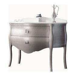 """Macral Paris 44"""" 3/4 Bathroom Vanity. Silver. - Macral Paris Vanity bathroom 44"""" 3/4. Silver gloss."""