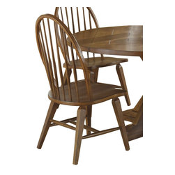 Liberty Furniture - Liberty Furniture Hearthstone Windsor Back Side Chair in Oak, Medium Wood (Set o - Everyone is drawn to the past, a simpler time, a simpler way of life. Hearthstone draws it's inspiration from the past with a true and honest design. With vintage appeal, Hearthstone is a casual, rustic style that never goes out of fashion. Elements of shaker and craftsman designs are combined with a rustic oak finish and accents of slate. What's included: Side Chair (can only be purchased in sets of 2).