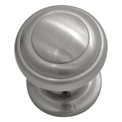 "Hickory Hardware - Zephyr Satin Nickel Cabinet Knob, 1"" - Often characterized with clean, sleek lines. Marked with solid colors, predominantly muted neutrals or bold bunches of color. An emphasis on basic shapes and forms."