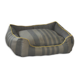 ez living home - Tonal Stripe Couch Bed Grey, Large - *New classic tonal stripe pattern creates a chic but soothing effect; Complements existing room decoration.