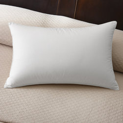 Famous Maker - Famous Maker 230 Thread Count Firm White Down Pillow - Add comfort to your night sleep with the Famous Maker white down pillow. Featuring a 230 thread count,this pillow is made from a 50-percent cotton and 50-percent polyester cambric shell filled with hypoallergenic power duck down.