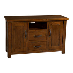 Hillsdale Outback 2 Drawer TV Console in Distressed Chestnut