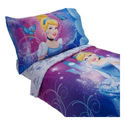 Crown Crafts Infant Products - Disney Cinderella Toddler Bedding Set 4-Piece Magic Princess Bed - Features: