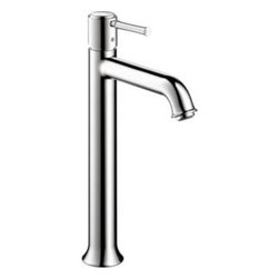 Hansgrohe - Hansgrohe - Talis C Single Hole Lav Highriser - 14116001 - Chrome - Featuring a single-handle setup, this Hansgrohe Talis C Single Hole 1-Handle Mid-Arc Bathroom Faucet in Chrome can be adjusted with ease and rises to the occasion thanks to its mid-arc spout design. Ceramic disc cartridges offer drip-free performance for water-efficient functionality. A chrome finish weathers everyday use to retain its luster, and the included drain helps complete the fixture.