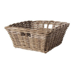 IKEA of Sweden - BYHOLMA Basket - These gray storage baskets come at a wonderful price. They're perfect for sliding into built-ins or using in drawers.