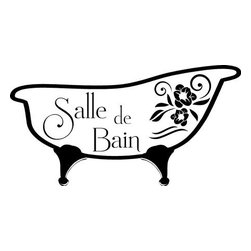 "Lacy Bella Designs - Vinyl Wall Decal ''Salle de Bain.'' - ""Salle De Bain"" this vinyl wall design is a ideal decal for those in need of Parisian touch to their household. A dainty way of showing some culture! Decal's dimensions are 19 x 10."