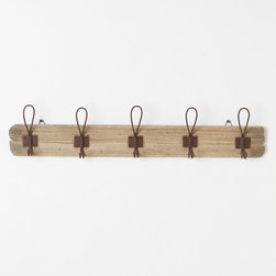 Reclaimed Wooden Rack - Long hours logged at your desk will leave you wanting your coziest of sweaters to keep warm. Keep them nearby on this handmade coat rack.