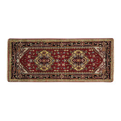 1800-Get-A-Rug - Runner Rust Red Serapi Heriz 100% Wool Oriental Rug Handmade Sh20304 - Our Tribal & Geometric hand knotted rug collection, consists of classic rugs woven with geometric patterns based on traditional tribal motifs. You will find Kazak rugs and flat-woven Kilims with centuries-old classic Turkish, Persian, Caucasian and Armenian patterns. The collection also includes the antique, finely-woven Serapi Heriz, the Mamluk, Afghan, and the traditional handmade village Persian rugs.