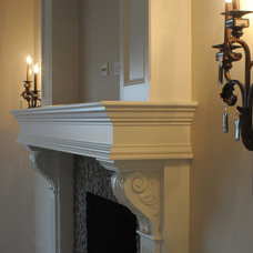 traditional fireplaces by Gander Builders