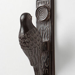 Woodpecker Knocker - This woodpecker doorknocker is a charming way to announce your guest's arrival.