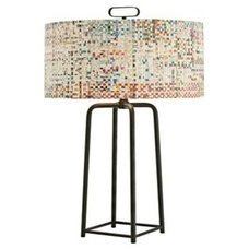 Griffith Newsprint 29-Inch-H Modern Table Lamp - Euro Style Lighting