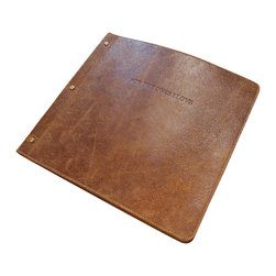 """Sugarboo Designs - Leather Photo Album - A beautiful home for your cherished memories. This leather photo album features 50 pages of thoughtfully collected quotes accompanied by sample photos. Simply place your own photo in the back pocket of each page to enjoy the memories of your special occassions for years to come. The cover quote reads """"For the ones I love"""". The album is a wonderful home for wedding photos or serves as a family memory book. This is also a thoughtful gift for new parents.   About the Artist: Rebecca Puig is the artist behind Sugarboo Designs. Sugarboo is a family business that Rebecca and her husband, Rick, started in 2005. The name Sugarboo came from a couple of nicknames she has for her children, Jake and Sophie. They are the main inspiration for Sugarboo because Rebecca always wants to create products that remind us of the ones we love. As a little girl, Rebecca loved to paint and create things. She attended the University of Georgia graduating with a Studio Art degree. Rebecca is inspired by her family, nature, animals, old things, childrens art and folk art. She also loves juxtaposing old and new, light and dark, serious subject matter with fluff and anything with a message. Rebecca believes in putting good out into the world whenever possible. Her hope is that each Sugarboo piece she creates will add a little good into the world."""