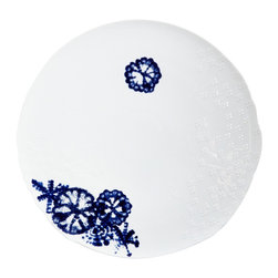 Rosenthal Studio - Landscape Shibori Porcelain Service Plate - The Landscape collection was inspired by patterns that can be found in nature. This unique, individual design is beautiful enough for any occasion, and versatile enough to pair with a wide range of accessories.