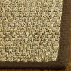 Safavieh - Safavieh Hand-woven Sisal Natural/ Brown Seagrass Runner (2'6 x 4') - Treat your feet to the soft comfort of this hand-woven sisal runner rug that features a braided design. This runner rug is the perfect size for your foyer or hallway,and is made from all-natural sisal with a natural color that is trimmed in brown.