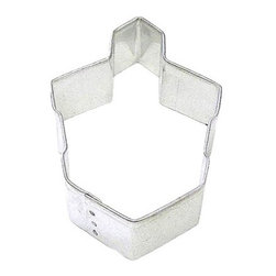 RM - Dreidle 3 In.  B1183X - Dreidle cookie cutter, made of sturdy tin, Size 3 in., Depth 7/8 in., Color silver