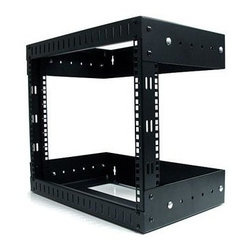 Startech.com - 8U Open Frame Wall Mount Rack - 8U Open Frame Wall Mount Equipment Rack - Adjustable Depth  This item cannot be shipped to APO/FPO addresses. Please accept our apologies.