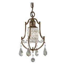 Murray Feiss - Murray Feiss Valentina Traditional Chandelier X-ZBO1/4262F - With shimmering look and lavish design, the Murray Feiss Valentina Traditional chandelier features slender open frame with oxidized bronze finish. The crystal shade creates a reflective lighting that provides a sparkling glow. The dangling crystal pendants add to the dazzling appeal of the chandelier. This fixture presents the room with a refined charm with old world influence.