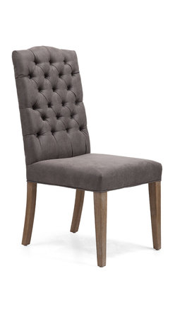 ZUO ERA - Gough Chair Charcoal Gray (set of 2) - Gough Chair Charcoal Gray