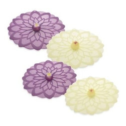 Charles Viancin - Charles Viancin Dahlia Silicone Lid - Help prevent splatters and retain steam during cooking with the Dahlia Silicone Lid. This lid has a floral design and fits on any smooth rimmed bowl or pot, forming an air-tight seal to keep food fresh for longer and seal in heat during cooking.