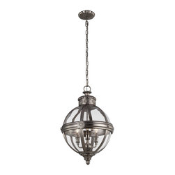 Murray Feiss - Murray Feiss Adams Traditional Pendant Light X-LNA4921P - Inspired by the Victorian age, the Adams Collection of pendants features classic, glass orbs with vintage cast rosette details. Both the crown and the ceiling canopy are surrounded by a decorative metal casing to achieve superior detailing with the same rosette detail featured on the center strap.