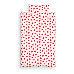 Duvet Cover Set, Red - Cover the kids' beds in love today and every day for less than $20. What's not to love about that?