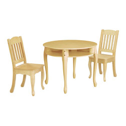 Teamson Design - Teamson Kids Windsor Round Table and Chairs Set in Natural - Teamson Design - Kids' Table and Chair Sets - W8688N. Style and functionality never came in such an easy package. Have your children enjoy their daily activities with a great Table and Chair Set from Teamson Kids - Children's Design. The Windsor Collection embodies a style that can match any room decor.