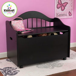 Kids Kraft - Kids Kraft Solid Wood Black Toy Box - This is Black toy box from kids from kids kraft which looks very stylish in your home or drawing room. This Toy box comes with a wide Chest which keeps your rooms very tidy and stylish. This chest would be a great addition to seat and relax there. It has good convenient storage and its Flip-top lid has safety hinge to protect kids fingers from getting pinched. it is available in white, black, natural, cherry, honey and espresso color.