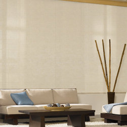 Bali - Bali Sliding Panels: Lucence - Bali Sliding Panels offer a modern alternative to standard window treatments that's perfect for patio doors, wide windows or as a room divider.  This collection is made of solar shade screen material.