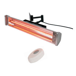 AZ Patio Heaters - Wall Mounted Electric Patio Heater with Remote - Wall Mounted Electric Patio Heater With Remote.