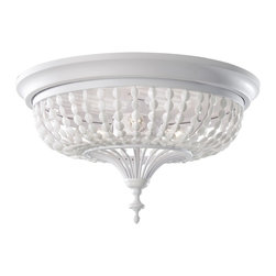 Murray Feiss - Murray Feiss FM376WSG Maarid Traditional Flush Mount Ceiling Light - Murray Feiss FM376WSG Maarid Traditional Flush Mount Ceiling Light