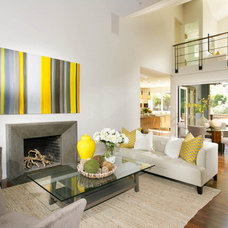 Contemporary Living Room by Lisa Benbow - Garnish Designs